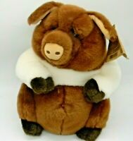 "Dakin Lou Rankin Fremont Pig Plush Standing Brown Applause Stuffed Animal 11"""