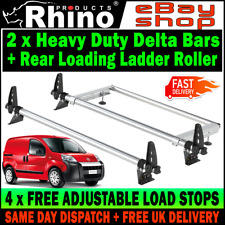 H1,Twin Rear 4x Rhino Roof Rack Bars and Roller Vivaro Trafic 2014-15-16-17-18