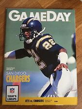 NFL Nov 24th 1991  New York Jets V San Diego Chargers GameDay Programme Program