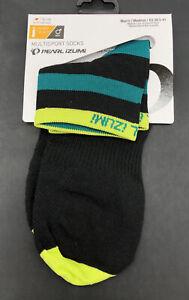 Pearl Izumi Elite Band Green Stripe Ankle Socks Mens Size Medium New Fast Ship