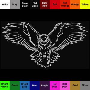 Owl Sticker - Bird Owl Decal - Choose Color Size