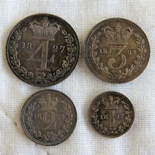 More details for 1827 king george iv 4 coin maundy set