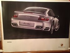Porsche 911 Turbo Showroom Original Factory Car Poster WOW!!