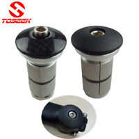 "Bicycle Headset Stem Expander Plug /Compressor + Carbon Top Cap for 1-1/8"" Fork"