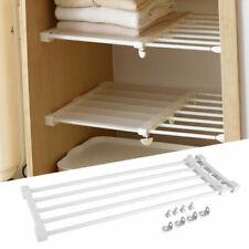 Adjustable Closet Tension Shelf Cupboard Wardrobe Partition Divider Storage Rack