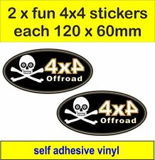 2x off road 4x4 fun stickers graphic Pirate decal land rover defender discovery