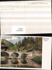 239401,Künstler AK Hugo Darnaut Margarethenbrücke Brücke in d. Walster b. Mariaz