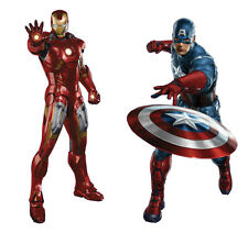 Marvel's The Avengers Iron Man 3D Wall Stickers Room Mural Decals Home Decor Art