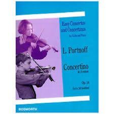 Easy Concertos and Concertinos für Violin and Piano L. Portnoff Op.14