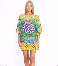 New Versace Tropical Medusa Print Kaftan Dress Coverup