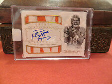 Panini Flawless Gold  On Card Autograph Jersey Broncos Peyton Manning 04/10 2014
