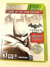 Batman: Arkham City - Game of the Year Edition - Xbox 360 Game 2 disc set
