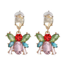 Drop Earrings for Women Party Jewelry 2019 New Multi-Color Crystal Bees Dangle