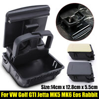 Rear Armrest Central Console Cup Holder For VW Golf GTI Jetta MK5 MK6 EOS