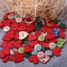 100pcs New Heart Flower Mixed Sewing Buttons Scrapbooking Cardmaking DIY