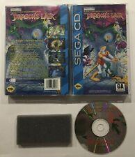 Dragons Lair Sega CD Complete Case Manual Tested