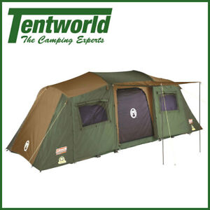 Coleman Northstar Instant Up 10 Person Lighted Dark room Blackout Camping Tent