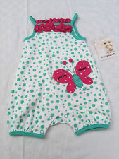 Buster Brown Infant Girls Romper Butterfly Size 00
