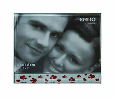 ERNO Glass Block Picture Frame 13x18cm Love Hearts