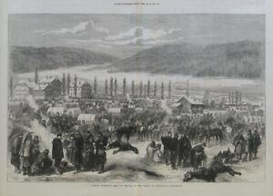 General Bourbaki's army at Travers, Neufchatel Guangzhou, Switzerland 1871