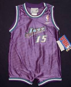 Reebok Purple Utah Jazz Harpring 15 Romper Infant Sizes NWT