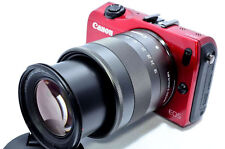 Canon EOS M 18MP 18X digital camera *red kit with EF-M 18-55mm lens *great