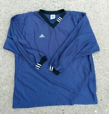 Vintage Adidas Long Sleeve Shirt Jersey Navy Blue White Stripes size XL