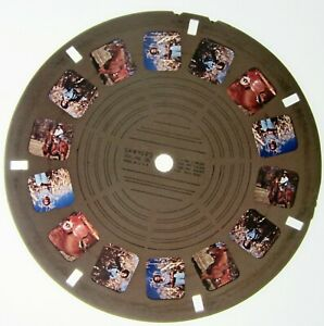 Family in Corn Field with Horses Very Early View-Master Personal Reel Great Pics