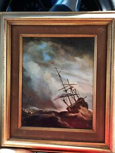 Painting of old ship from Fabulous Forgeries NYC