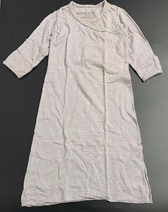 Merino Kids Light Purple Striped Wool Wrap Sleeping Bag - 3 to 12 Months
