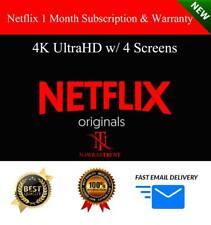 Netflix 1 Month Subscription & Warranty: 4K UltraHD w/ 4 Screens