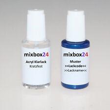 Stylo retouche peinture pour vw 4p Harvard Blue 20ml + couche transparente 20ml