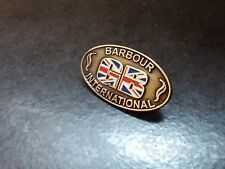Genuine limit edited GB Barbour international pin badge
