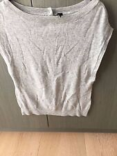Brand New Topshop Grey Marle Knit Top Boatneck Size 10