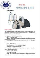 DOUBEL THREAD Portable Manual Bag Sack Closing Machine Stitcher Sewing 110V Tool