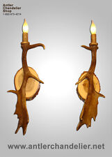 REAL FALLLOW ANTLER ONE LIGHT SCONCE Lamps, ACS Lights, RUSTIC Chandelier SC