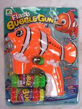LIGHT UP CLOWN FISH BUBBLE GUN WITH SOUND toy bottle bubbles maker machine NEW