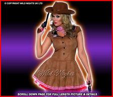 FANCY DRESS COSTUME # SEXY WILD WEST COWGIRL SM 8-10
