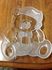 "Mikasa  Crystal Holiday Bear Frosted Platter 11"" Japan"