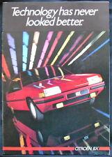 THE CITROËN BX RANGE SEPTEMBER 1985 SALES BROCHURE #K2047