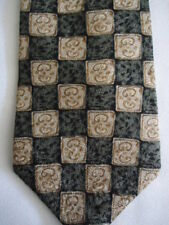 Gap Black Brown Checker Designs Silk Tie 57.5""