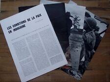 Article presse Les conditions de la paix en Indochine,Aron , 1954, ,photos