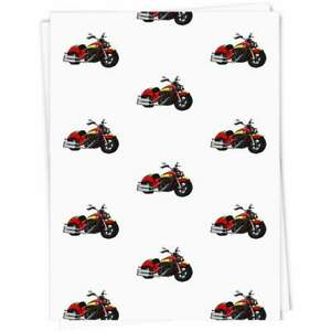 'Red Motorcycle' Gift Wrap / Wrapping Paper / Gift Tags (GI024728)