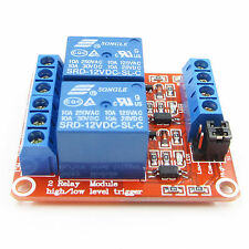 2 Channel Relay Module with Optocoupler Support H/L Level Trigger for Arduino