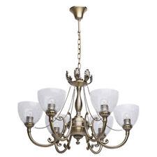 Lampadario pendente classico colore ottone anticato metallo vetro retro vintage