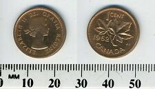 Canada 1962 - 1 Cent Bronze Coin - Queen Elizabeth II