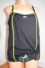 New Speedo Fit Swimsuit Bikini Tankini 2 piece Set Sz 10 Black