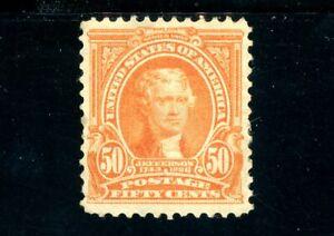 USAstamps Unused VF US Serie of 1902 Jefferson Scott 310 OG MH