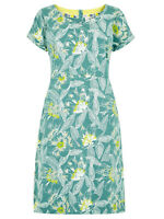 Weird Fish Green  Biscayne Printed Jersey Viridis Dress - Size 8 - 18