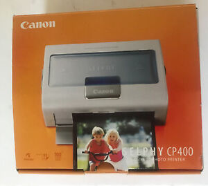 Canon Selphy CP400 Compact Photo Printer New Open Box Complete.